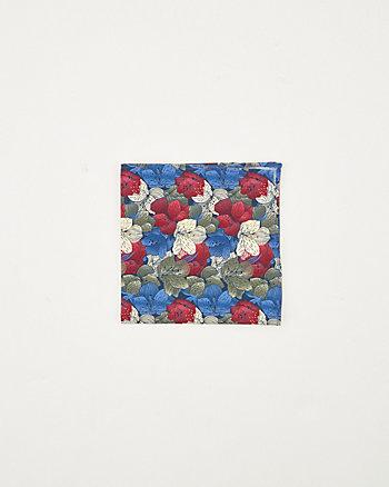Mouchoir de poche à motif floral en coton
