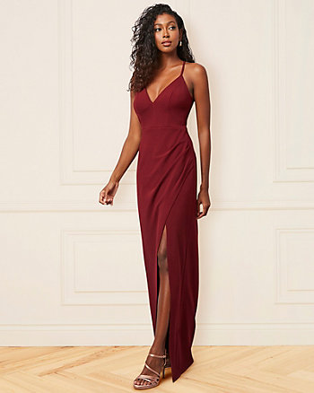 Sparkle Knit V-Neck Racer Back Gown