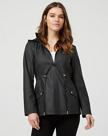 Water Repellant Zip-Front Anorak Jacket