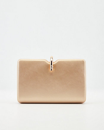 Faux Leather Minaudière