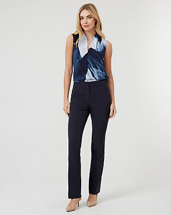 Bi-Stretch Slight Flare Leg Pant