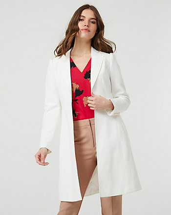 Viscose Blend Notch Collar Coat