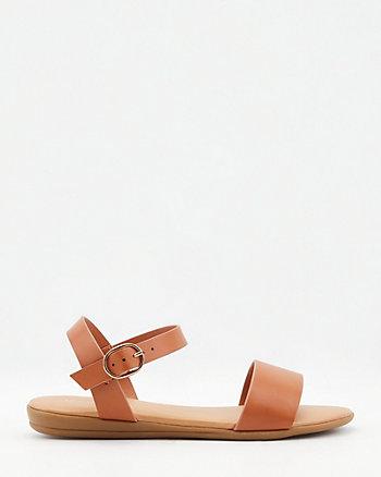 Sandale à bride de cheville en similicuir