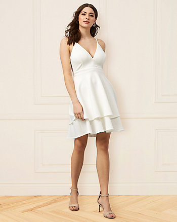 Knit Fit & Flare Skater Dress