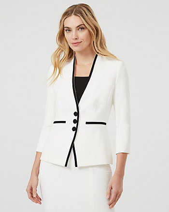 Button-Front Blazer