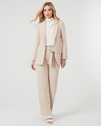 Double Weave Open-Front Blazer