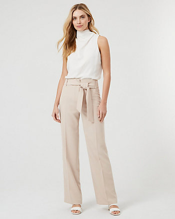 Double Weave Wide Leg Pants
