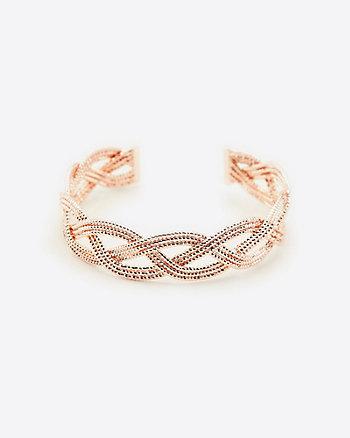 Braided Open-Cuff Bracelet