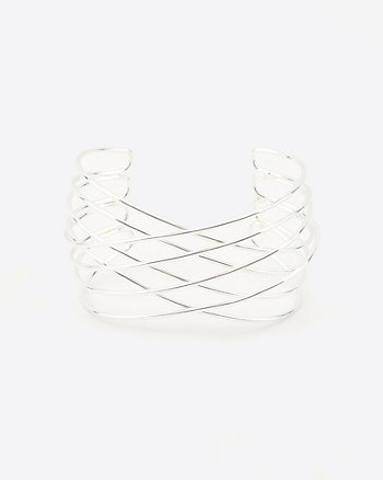 Criss-Cross Open-Cuff Bracelet
