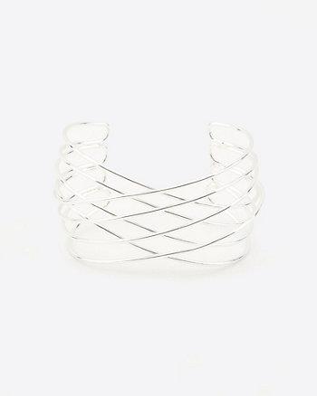 Criss-Cross Open-Cuff Bracelet
