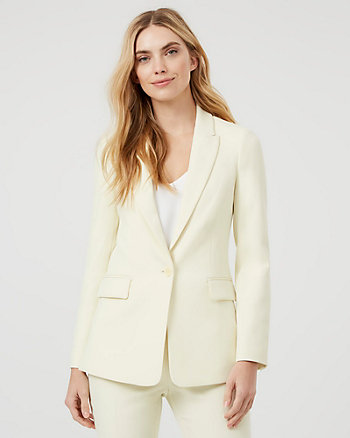 Twill Notch Collar Tailored Fit Blazer