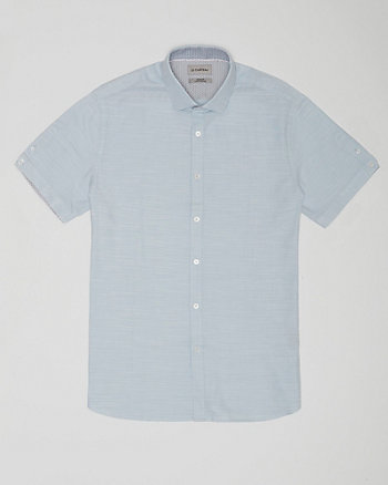 Chemise en coton à fil flammé