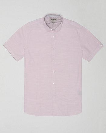 Cotton Slub Athletic Fit Short Sleeve Shirt