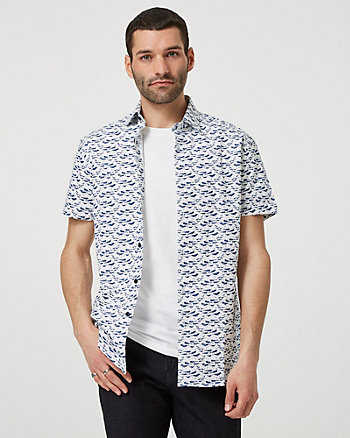 Whale Print Short Sleeve Shirt