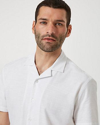Chemise à manches courtes en coton