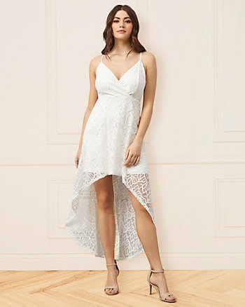 Stretch Lace Wrap-Like Dress