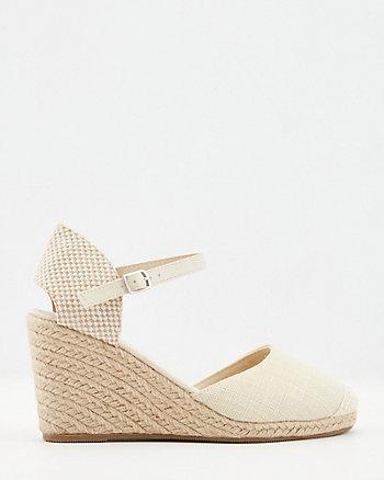 Sandale espadrille à talon compensé