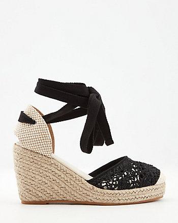 Sandale espadrille façon macramé