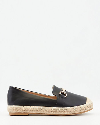 Faux Leather Espadrille Loafer