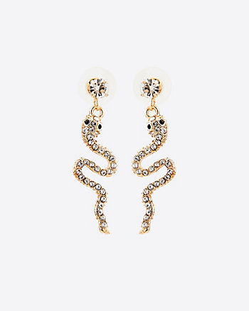 Gem Encrusted Snake Earrings