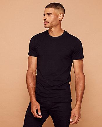 T-shirt ras du cou en coton extensible