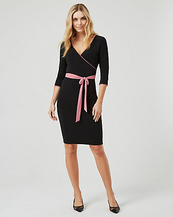 Reversible Knit Wrap-Like Dress