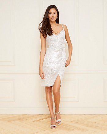 Sequin V-Neck Dress
