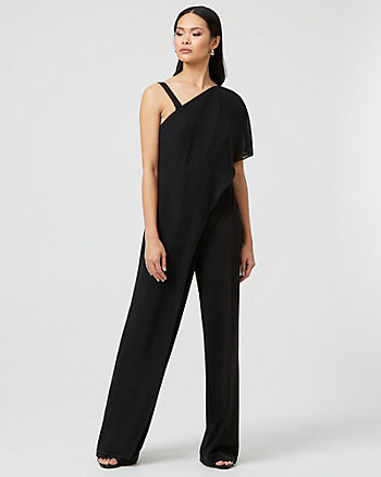 Knit Crêpe Wide Leg Jumpsuit