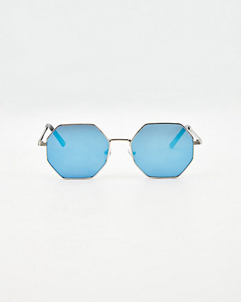 Hexagon Aviator Sunglasses