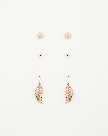 Gem Encrusted Earrings Set
