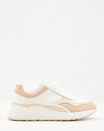 Faux Leather & Faux Suede Sneaker