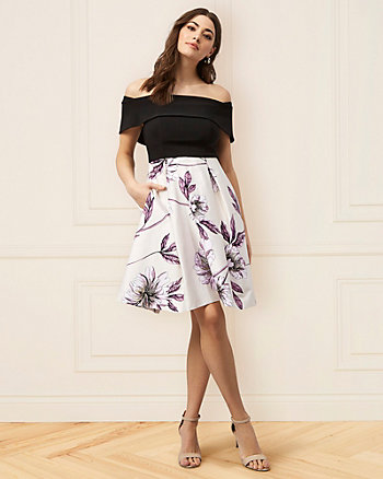 Floral Print Off-the-Shoulder Dress