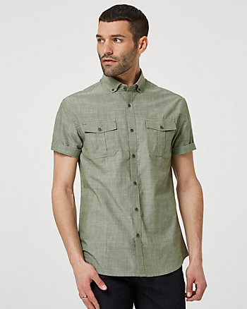 Cotton Slub Short Sleeve Shirt