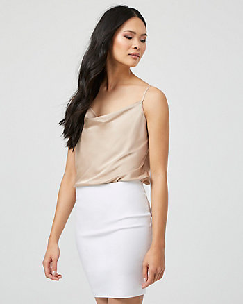 Satin Cowl Neck Camisole