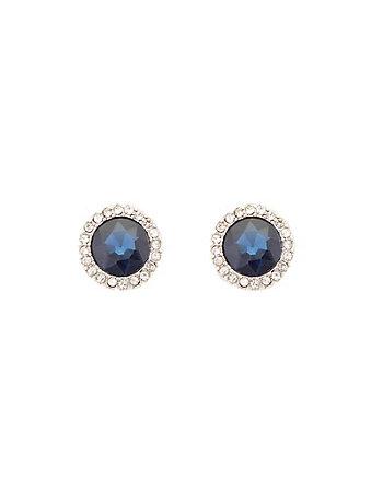 Gem Encrusted Stud Earrings