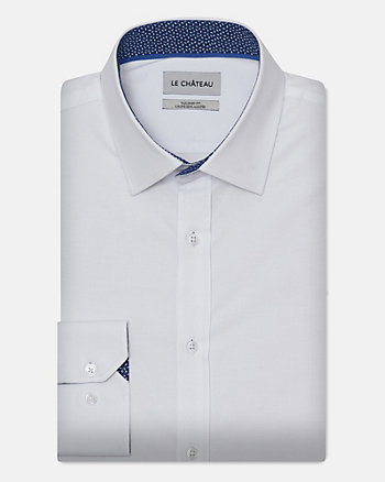 Stretch Cotton Poplin Tailored Fit Shirt