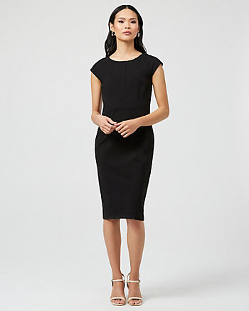 Ponte Knit Scoop Neck Dress