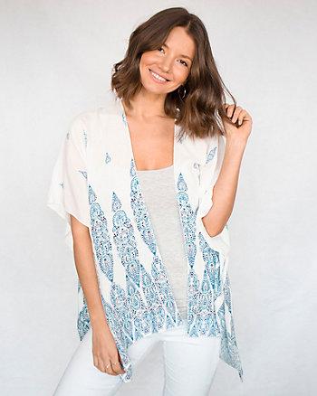 Ornamental Print Viscose Kimono