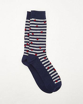 Ladybug Print Knit Socks