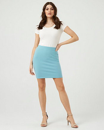 Knit Crêpe Mini Skirt