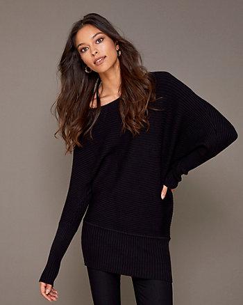 Eco-Conscious Rib Knit Tunic Sweater
