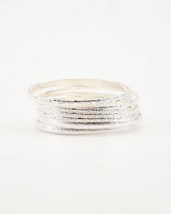 Metal Bangle Bracelet Set
