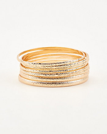 Metal Bangle Bracelet Set