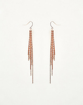 Gem Encrusted Fringe Drop Earrings