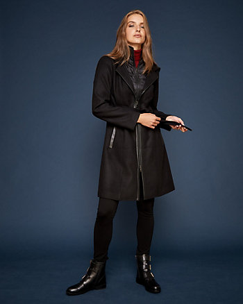 Hooded Cashmere-Like Coat