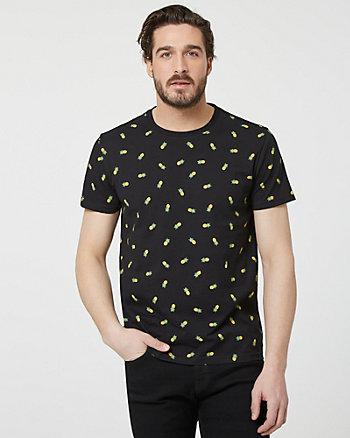T-shirt à motif d'ananas en coton