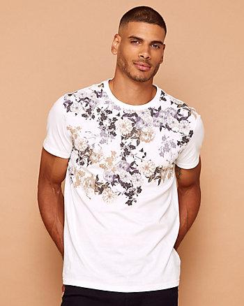 T-shirt à motif floral en coton
