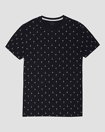 T-shirt à motif de palmiers en coton
