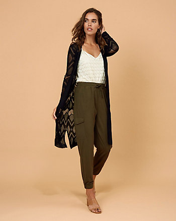 Open-Stitch Knit Cardigan