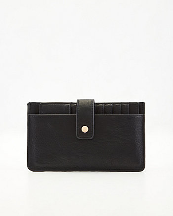Pebbled Faux Leather Cardholder Wallet